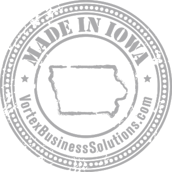 Vortex Digital Business Solutions Iowa City Made in Iowa seal